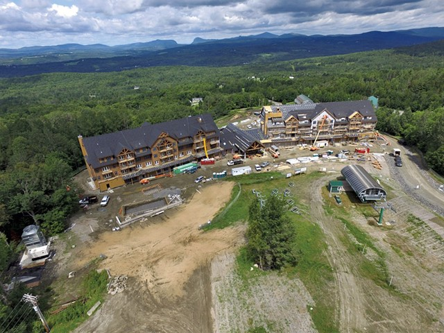 Construction at Q Burke Resort in August 2015 - FILE: DON WHIPPLE