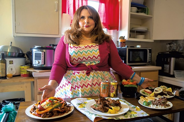 Holly Anagnos preparing Miami Mami meals out of her home in Colchester - JAMES BUCK