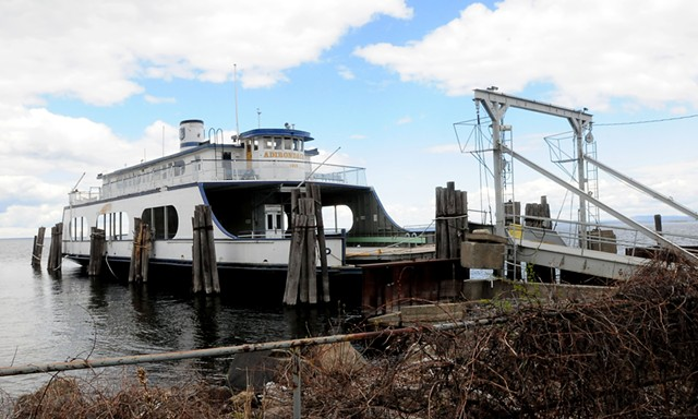 The retired ferry Adirondack in Port Kent, N.Y. - ROB FOUNTAIN ©️ SEVEN DAYS