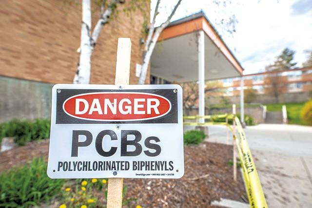 A sign at Burlington High School - LUKE AWTRY