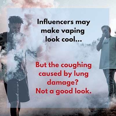 Meme created as part of a vaping messaging study - COURTESY OF UVM CANCER CENTER