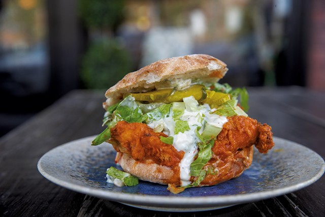Rough Francis chicken sandwich at Misery Loves Co. - JAMES BUCK