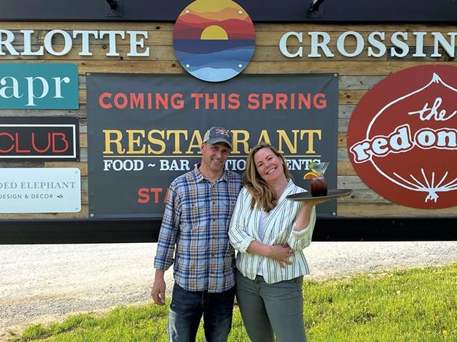 Jill and Adam Spell of Backyard Bistro - COURTESY OF BACKYARD BISTRO