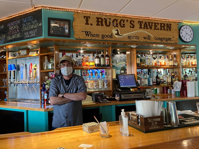 Mike Dunn at T. Rugg's Tavern - COURTESY OF MIKE DUNN