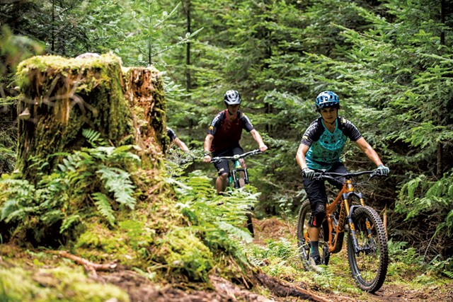 Bikers at Kingdom Trails in 2019 - COURTESY OF ZACH FAULKNER