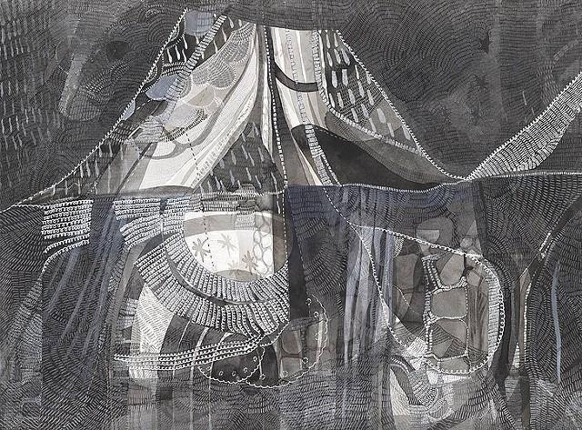 """The Deeper We Dig,"" painting by Wylie Sofia Garcia - WYLIE SOFIA GARCIA"