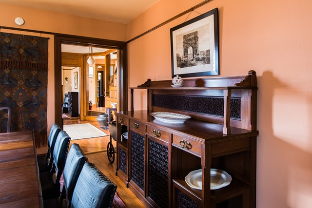 The teak sideboard by Lockwood de Forest - COURTESY OF KELLY FLETCHER PHOTOGRAPHY