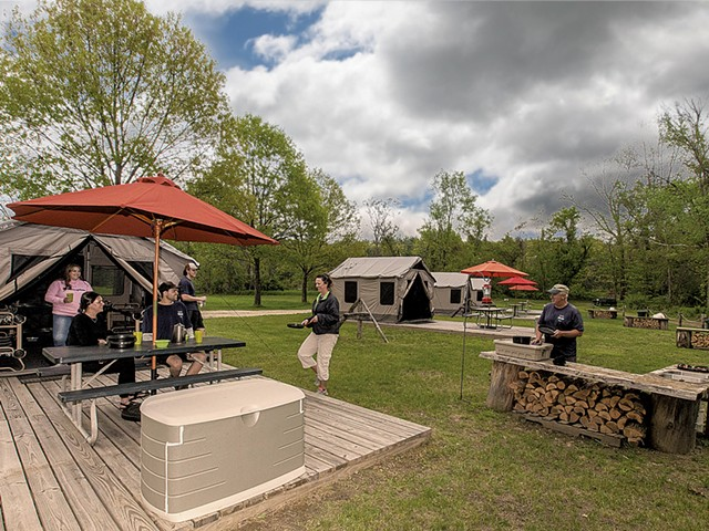 Great River Outfitters campsites on the garden grounds - COURTESY OF GREAT RIVER OUTFITTERS