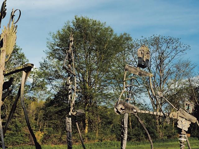 Driftwood sculptures symbolizing Creativity - SARAH PRIESTAP