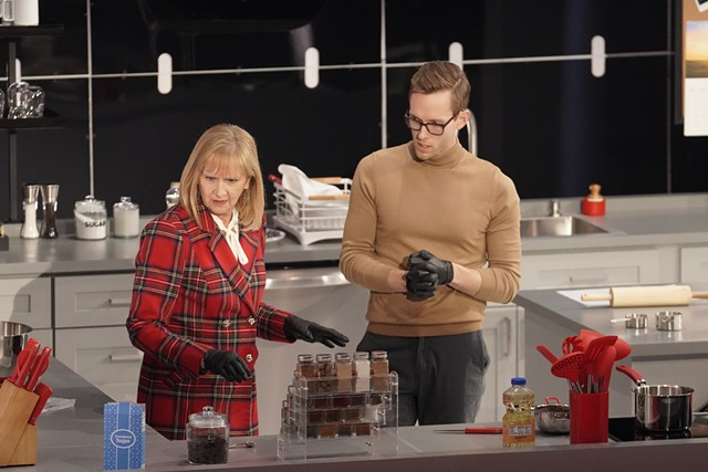 Thomas McCurdy and his mother, Cathy Jacobson, competing on 'Crime Scene Kitchen' - COURTESY FOX CRIME SCENE KITCHEN