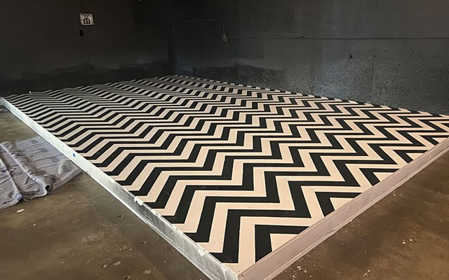 """The """"Twin Peaks""""-inspired stage at Alfie's Wild Ride - COURTESY OF CHRIS OLEKS"""