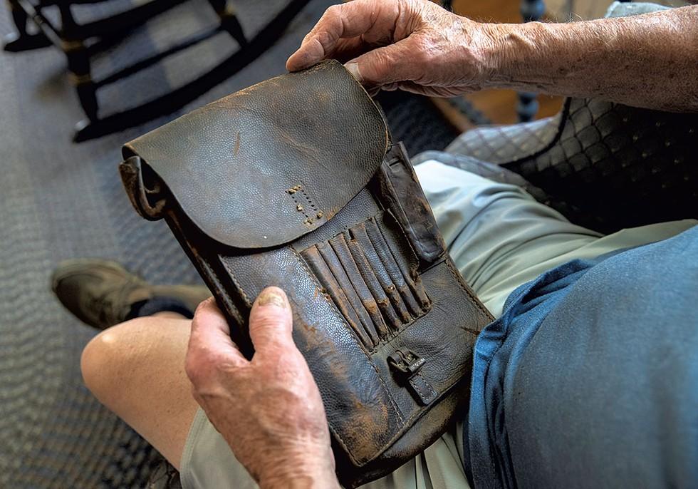 Messenger pouch Carr took from a dead German soldier - JAMES BUCK
