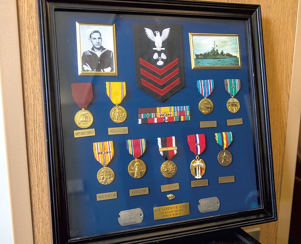 Leney Barclay's medals - JAMES BUCK