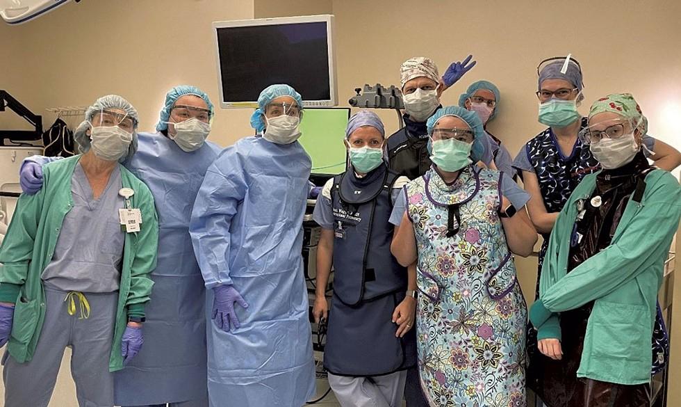 Clinical trial operative team - COURTESY PHOTO