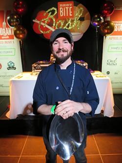 Daily Planet chef Justin Bigelow - MATTHEW THORSEN
