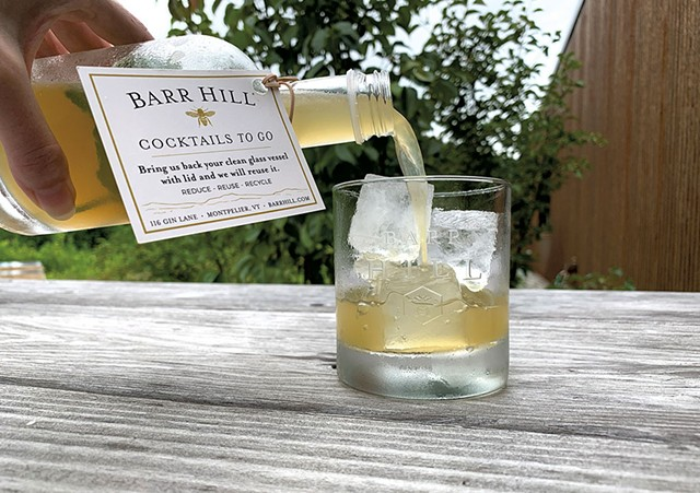 A Barr Hill Eastbound & Down cocktail to-go - COURTESY