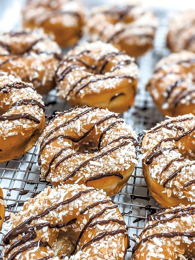 Caramel-coconut-chocolate doughnuts from North Country Donuts - COURTESY