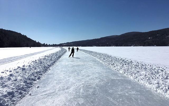 Ice skating at Lake Morey - COURTESY