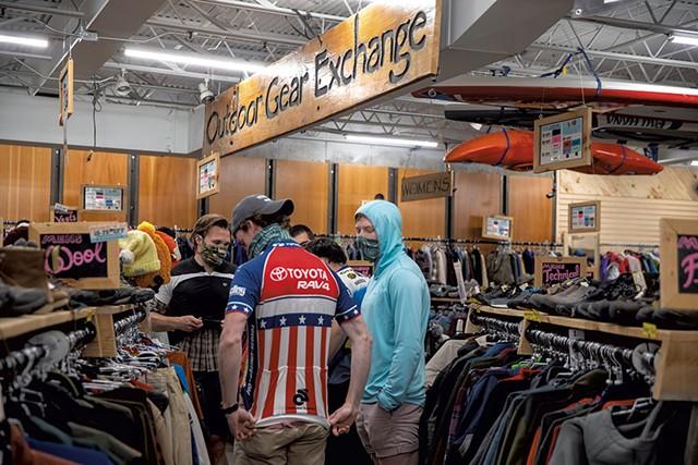 Shoppers at Outdoor Gear Exchange in Burlington - FILE: JAMES BUCK