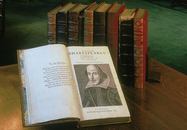 The First Folio of 36 Shakespeare plays, at Middlebury College Museum of Art in February - COURTESY OF MIDDLEBURY COLLEGE