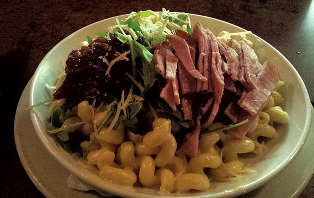 Ham-and-tomato-jam mac at Bar Antidote - MELISSA HASKIN
