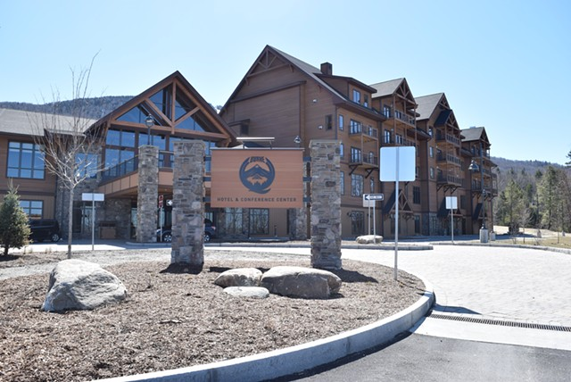The Q Burke Hotel & Conference Center is completed, but has yet to open. - TERRI HALLENBECK