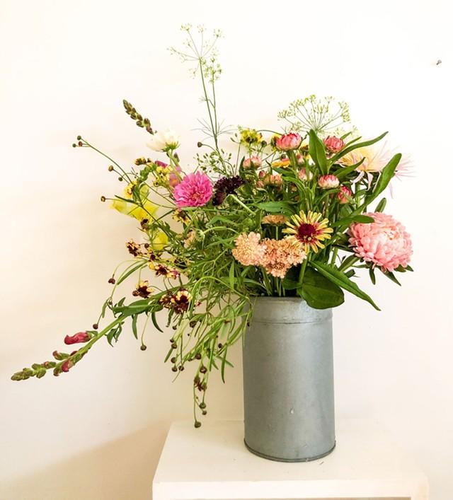 Poker Hilll Flower Farm arrangement - COURTESY OF POKER HILL FLOWER FARM