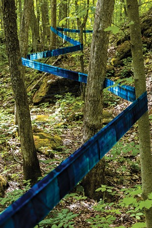 Installation detail at Raven Ridge Natural Area - COURTESY OF MICHAEL SACCA