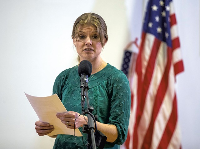 Liz Cady speaking at an event last month - JAMES BUCK