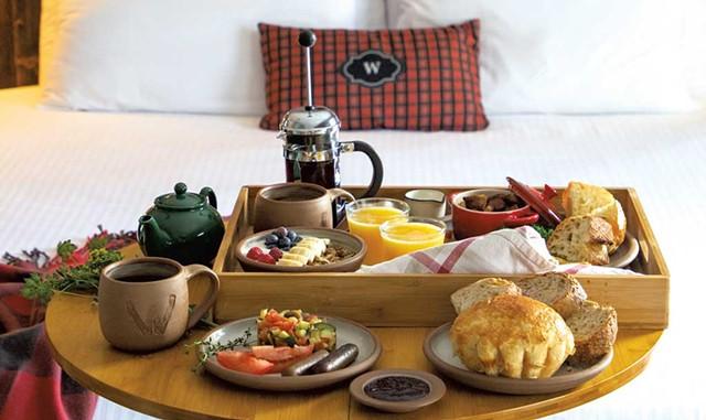 Breakfast in bed - COURTESY OF JENNA RICE