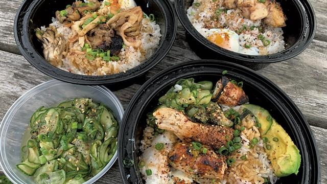 Dinner from Kitsune - SALLY POLLAK ©️ SEVEN DAYS