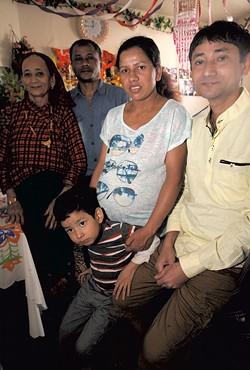 From left: Lachhi Karki, Indra Karki, Tulsa Gajurel, Chuda Karki; front: Anish Karki - MATTHEW THORSEN