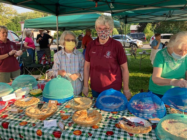 Historical Society volunteers at Tuesday Night Live - MOLLY ZAPP