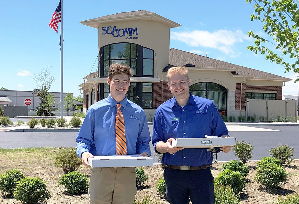 SeaComm surprises local businesses with pizza from Mimmo's - COURTESY IMAGE
