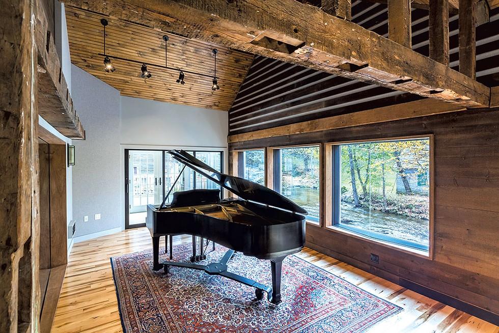 Yamaha grand piano in the live room - COURTESY OF DAVID BARNUM