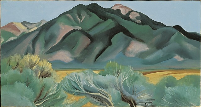 """Taos Mountain, New Mexico"" by Georgia O'Keeffe - COURTESY OF HOOD MUSEUM OF ART"