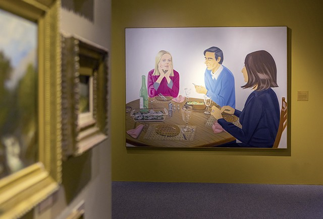 """Supper"" by Alex Katz, gallery view - COURTESY OF FLEMING MUSEUM OF ART"