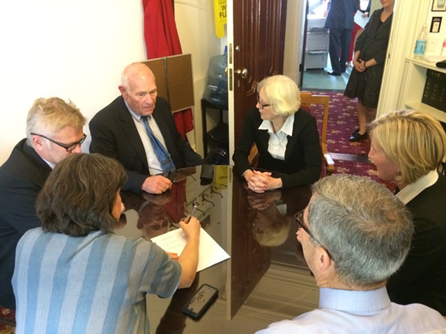 House and Senate budget negotiators signed their agreement Friday, paving the way for adjournment. - NANCY REMSEN