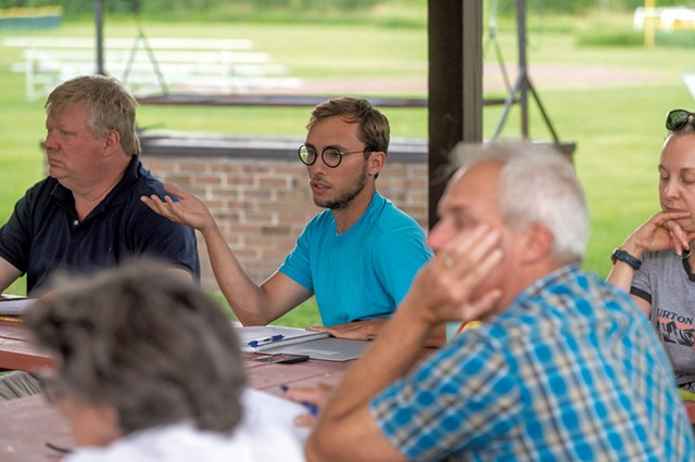 Nicholas Nadeau (center) at a Recreation Committee meeting - JEB WALLACE-BRODEUR