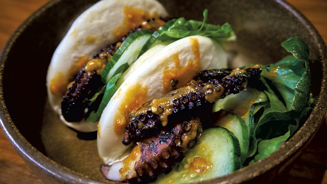 Wildflower Restaurant & Bar's grilled octopus bao - COURTESY OF SILVER SUN GROUP