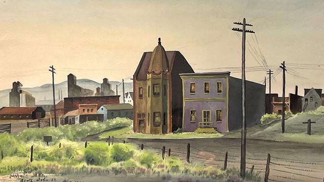 """Sunday Morning (Colorado)"" by Adolf Dehn - COURTESY OF BUNDY MODERN"