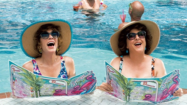 LAST RESORT Wiig and Mumolo play best friends whose Florida vacation gets surreal in Greenbaum's comedy. - COURTESY OF CATE CAMERON AND LIONSGATE.