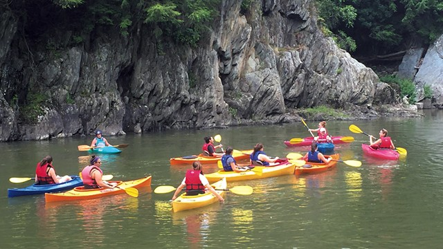 A guided kayak tour on the Winooski River - COURTESY OF CLEARWATER SPORTS