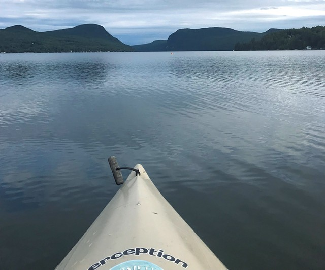 Kayaking on Lake Willoughby - PAULA ROUTLY ©️ SEVEN DAYS