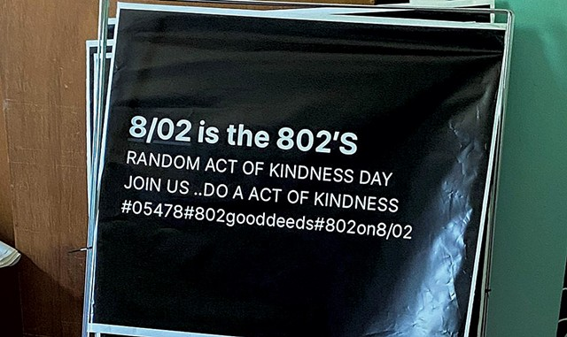 Lawn signs for 802 Good Deeds Day - COURTESY OF BRIAN DEMPSEY