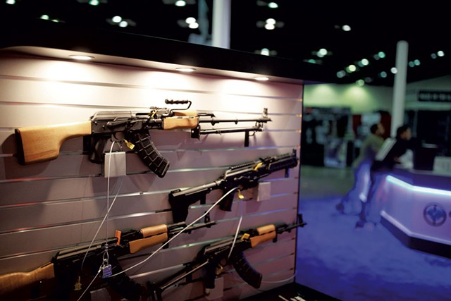 A Century International Arms booth at a National Rifle Association convention in Indianapolis - AP PHOTO / JEREMY HOGAN