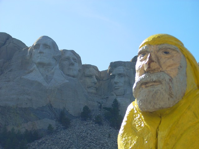 Captain Ahab at Mount Rushmore - COURTESY OF AHAB'S ADVENTURES