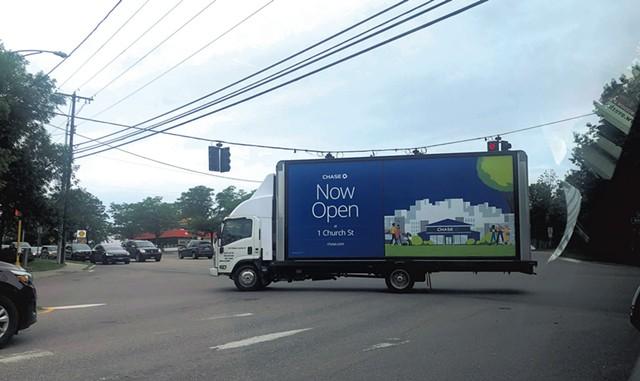 Mobile billboard - COURTESY HEATHER AND PHILIP BATALION