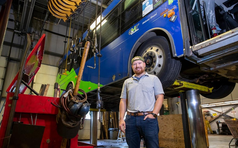 Alec Robinson, maintenance coordinator at GMT - JAMES BUCK