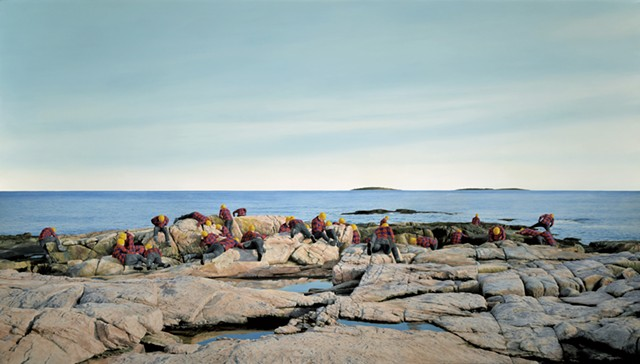 """""""Untitled (Rocky Coast of Maine)"""" by Cobi Moules - COURTESY OF COBI MOULES"""